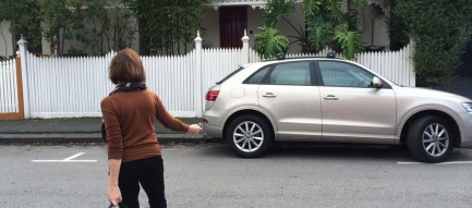 Person locking car image