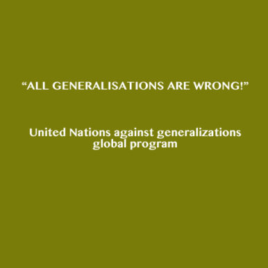 All generalisations are wrong
